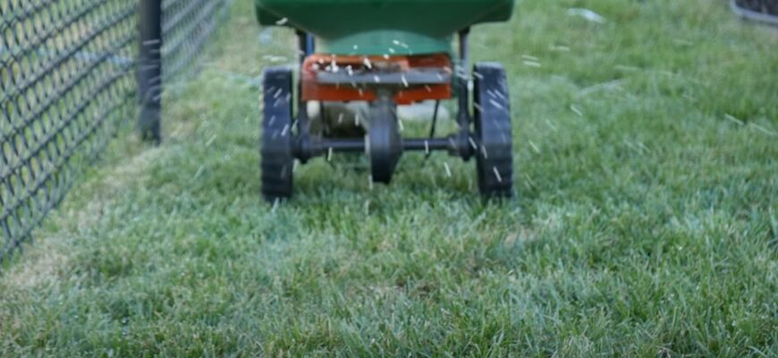 How to apply grass seed & fertilizer together