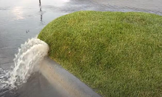 Lawn Bubble drainage points